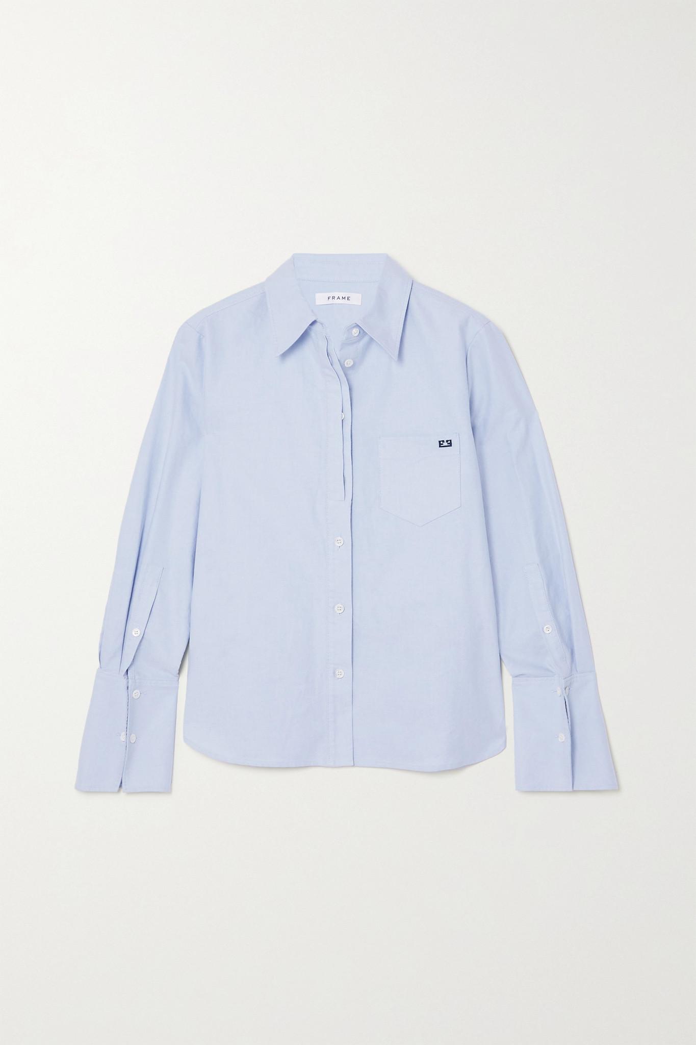 FRAME - 纯棉牛津纺衬衫 - 蓝色 - x small