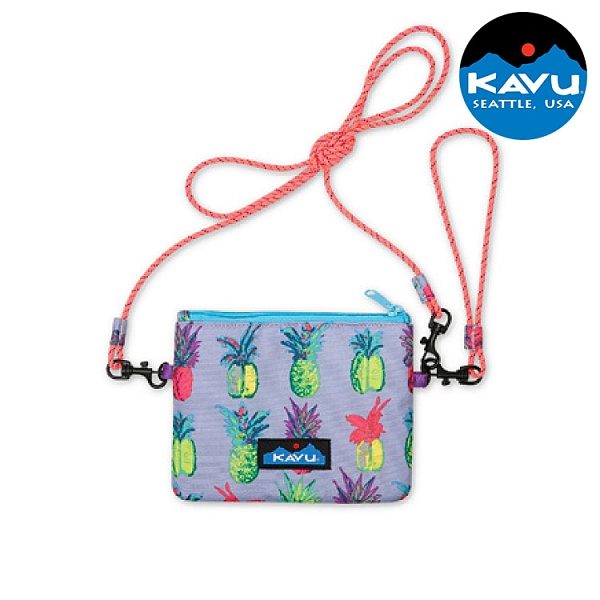 【KAVU】休閒斜背小包 Renrose 9207 鳳梨POP / 城市綠洲 (斜背包 側背包 手提包 收納包 美國品牌)