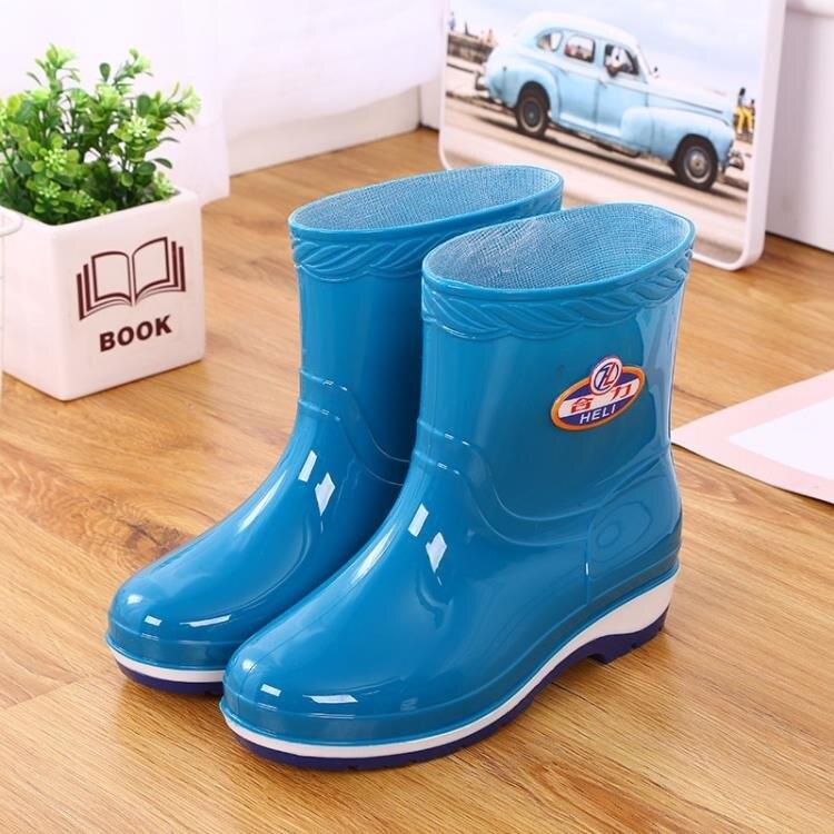 雨鞋 短筒雨鞋女士防滑耐磨水鞋舒適防水膠鞋加絨保暖水靴勞保中筒雨靴 果果輕時尚