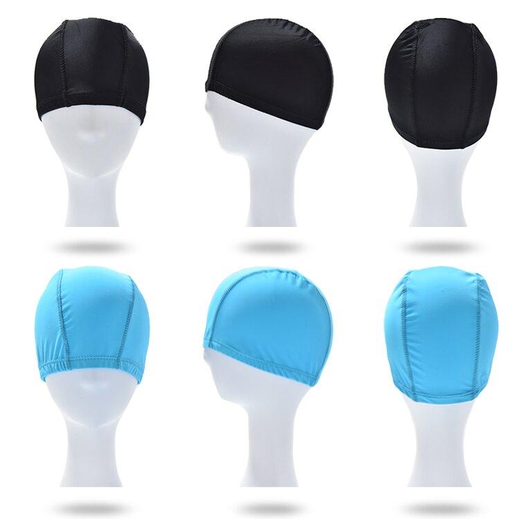 布游泳帽女男通用成人錦綸氨綸彈力布料泡溫泉花色純色可定制logo
