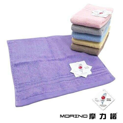 MORINO 飯店級素色緞台條方巾(卡 33X34cm) [大買家]