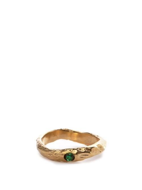 Anita Berisha - May Faux-emerald & 14kt Gold-plated Ring - Womens - Green