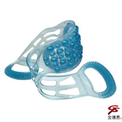 金德恩 台灣製造 49個凸點設計沐浴雙環美背洗浴巾/洗背刷/洗澡巾