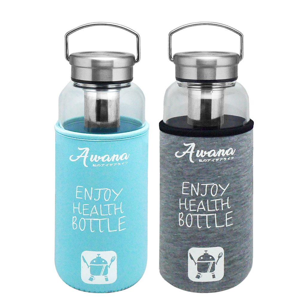 AWANA手提鋼蓋玻璃瓶-1000ml