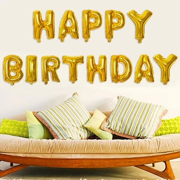HAPPY BIRTHDAY生日快樂氣球 場地布置 兒童房 活動派對 兒童派對 生日 慶生 橘魔法 現貨 PARTY