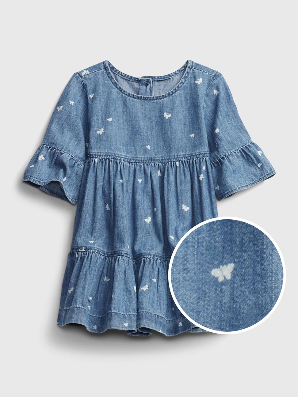 嬰兒 純棉牛仔連衣裙套裝