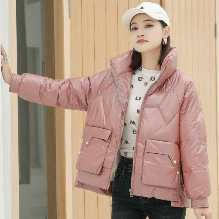 羽絨服 冬季女裝韓版輕薄時尚j簡約顯瘦修身拉鏈羽絨服外套
