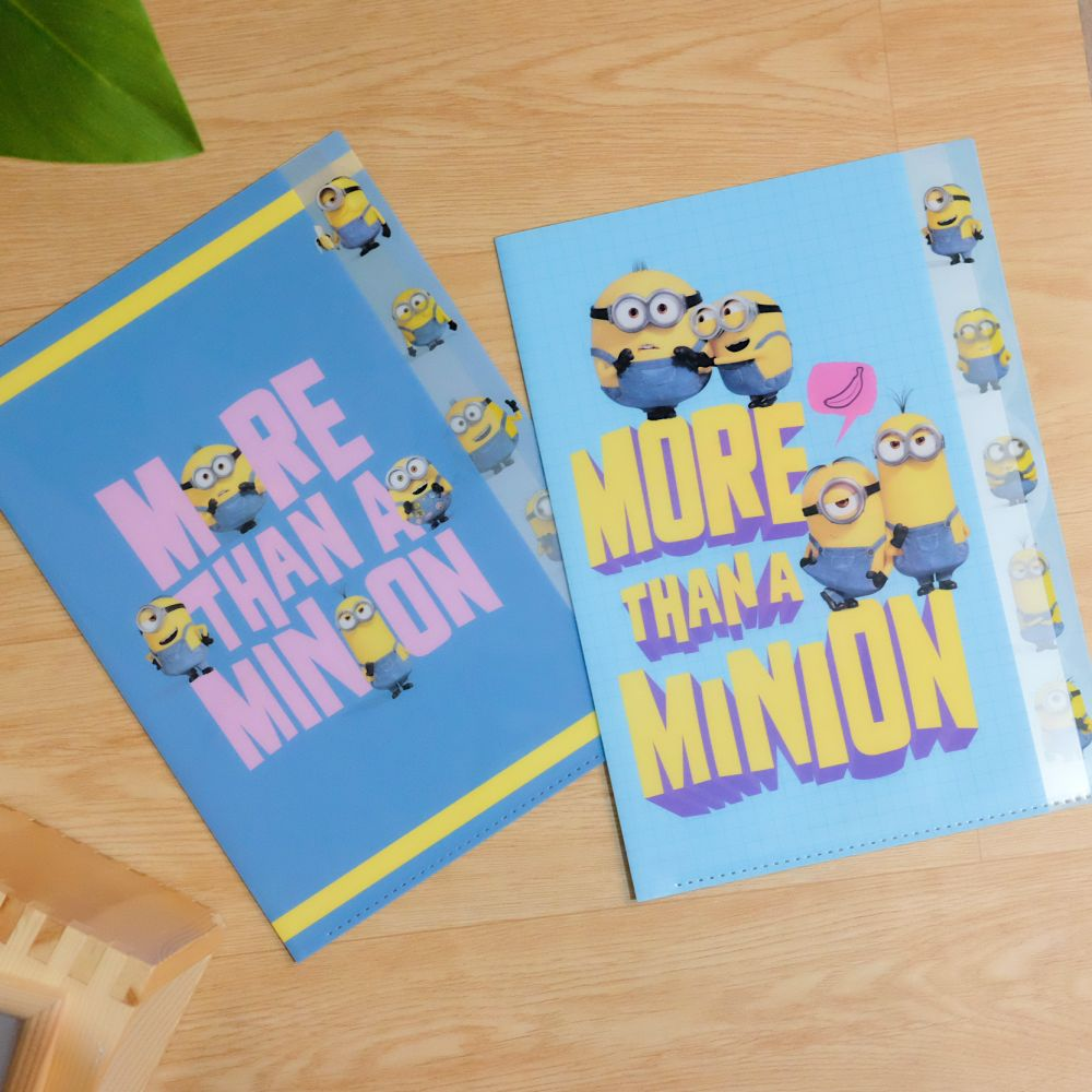 《Universal Studios》日本商品 小小兵五層分頁文件夾 A4資料夾 Minions 神偷奶爸 日本製