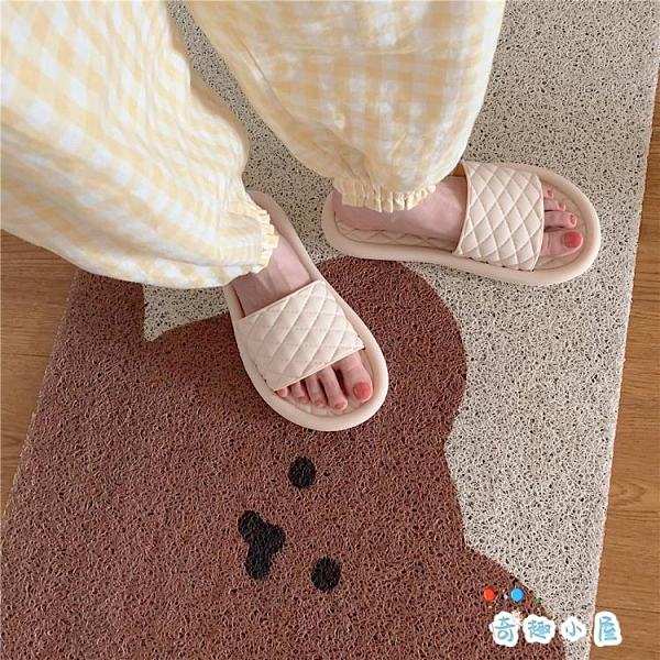 拖鞋女夏時尚室內居家用防滑浴室洗澡拖鞋【奇趣小屋】