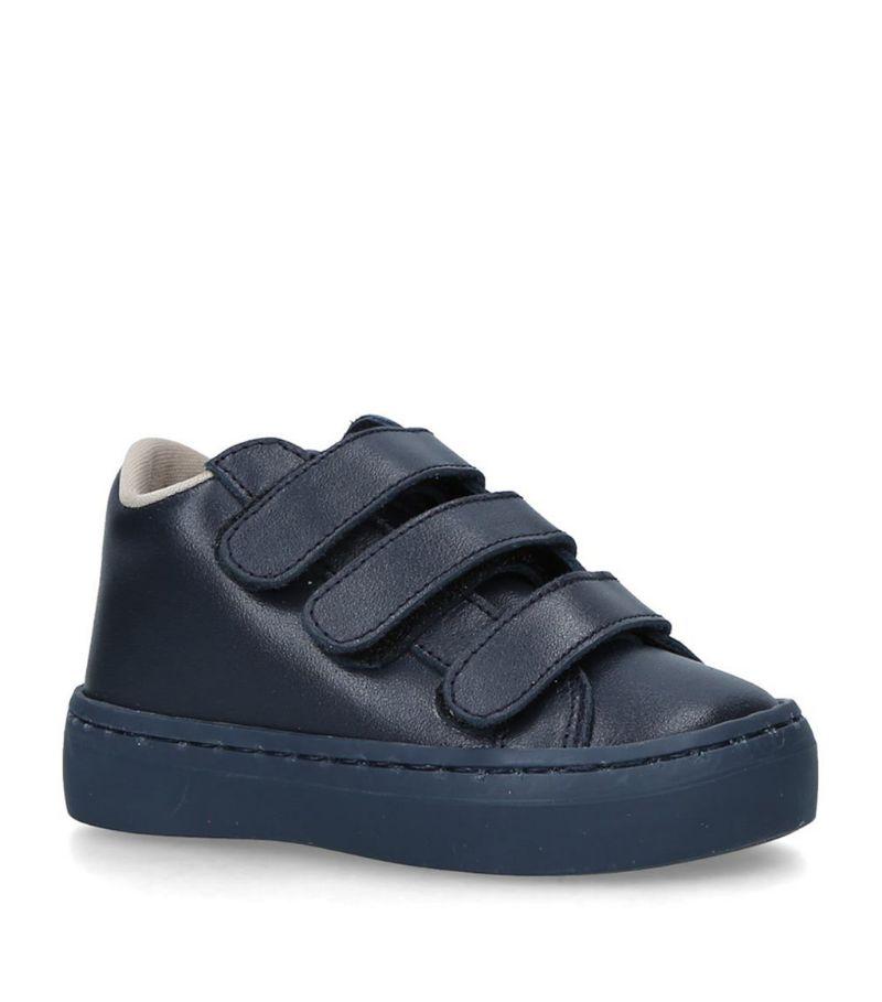 Babywalker Leather Triple-Strap Sneakers