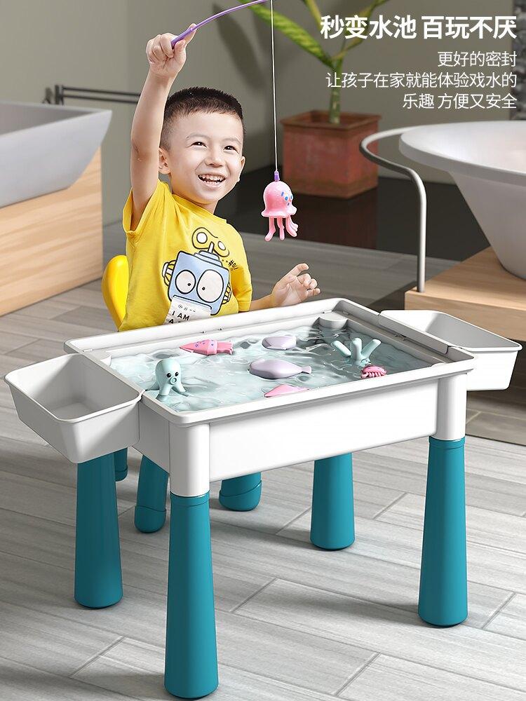 兒童多功能積木桌2歲拼裝益智積木玩具3男女孩6智力動腦4寶寶