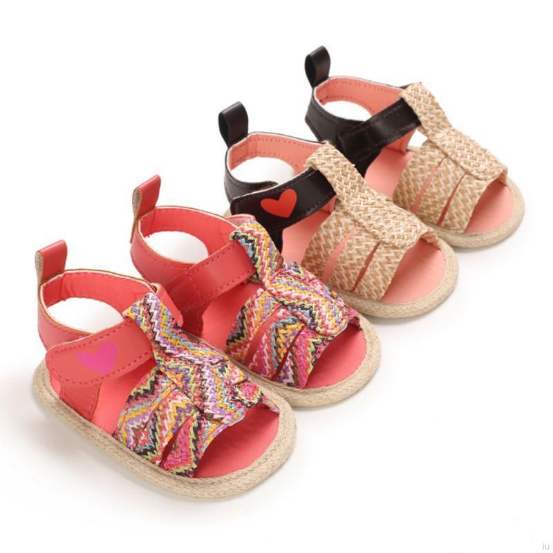 嬰幼兒夏季時尚編織防滑涼鞋 女寶寶可愛休閒pu學步鞋【IU貝嬰屋】