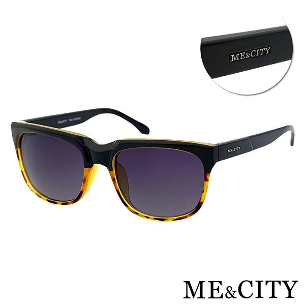 ME&CITY 時尚極簡玳瑁方框太陽眼鏡 義大利設計款 抗UV400 (ME21003 G02)