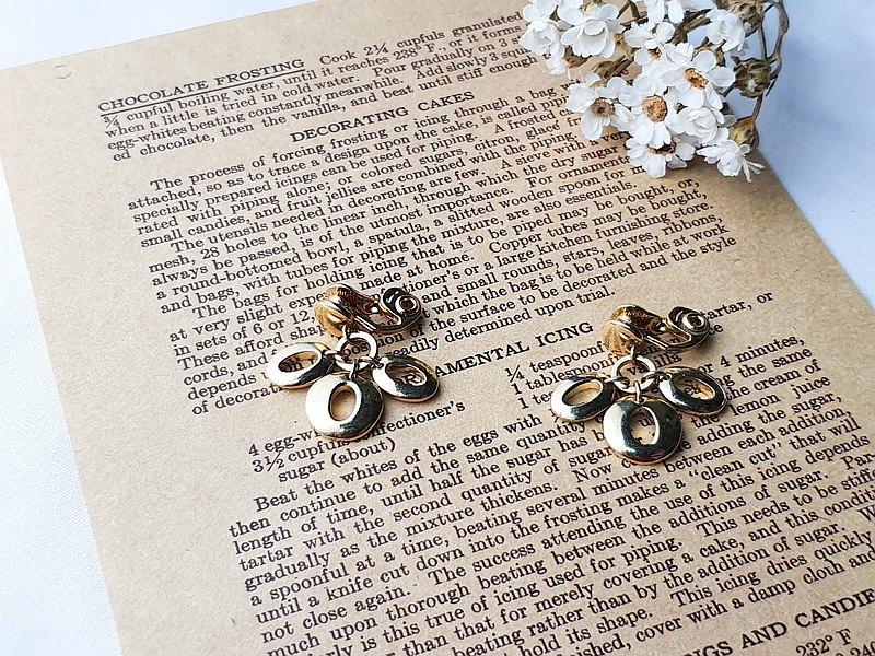【美國帶回 女人節折扣】1960年代美國品牌Monet 復古夾式耳環