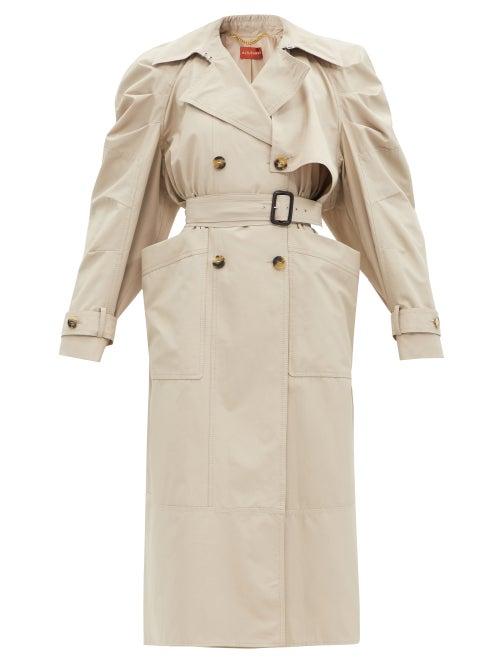 Altuzarra - Ambretta Gathered-shoulder Trench Coat - Womens - Beige