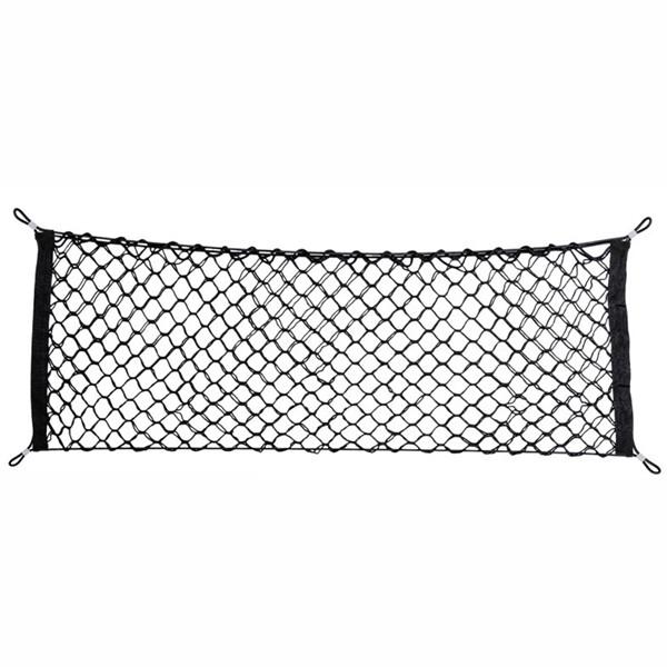 車尾立網   汽車用後車廂收納網兜 車載固定繩 雜物置物網行李繩 貨物收納網 固定網