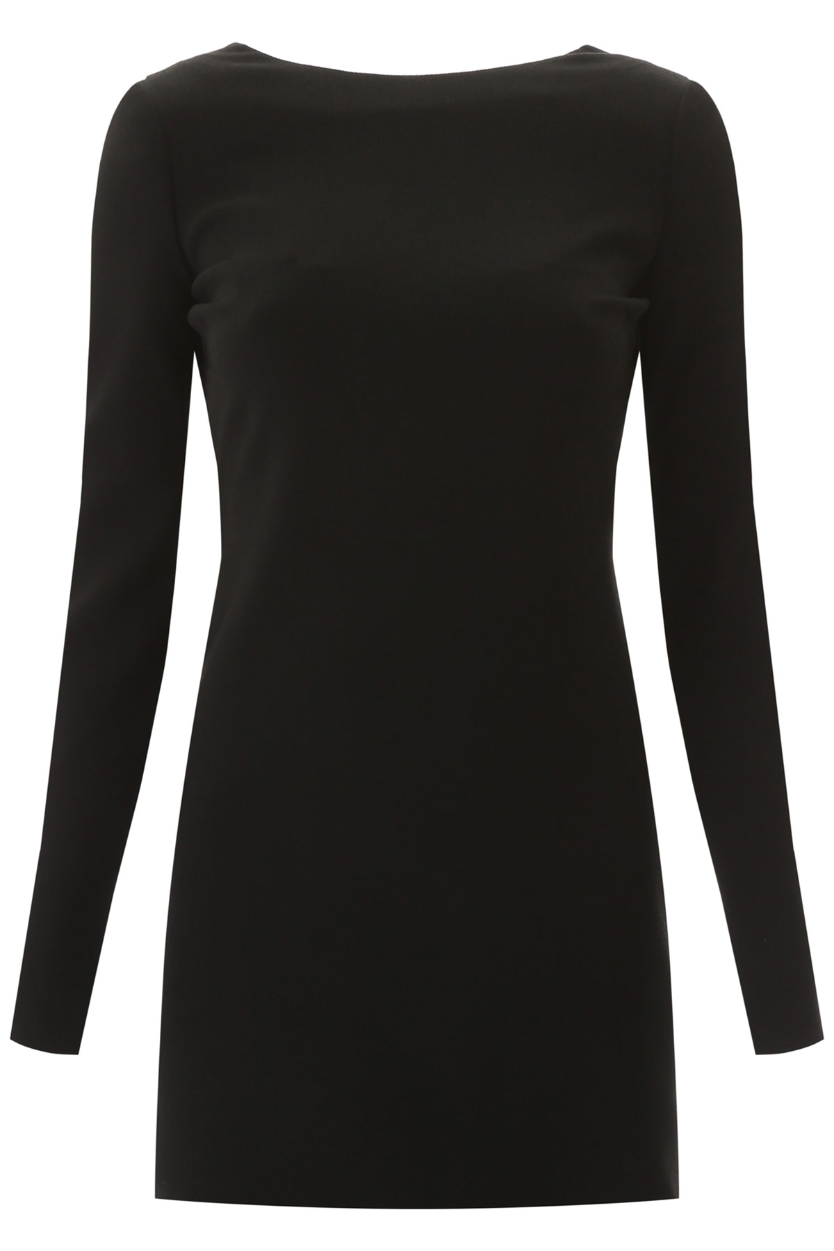 SAINT LAURENT SHORT DRESS WITH KNOT 36 Black