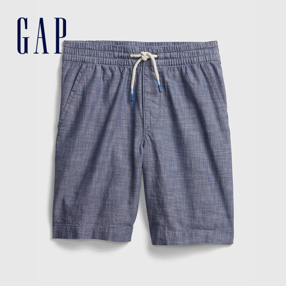 Gap 男童 柔軟舒適仿牛仔布短褲 682041-藍色