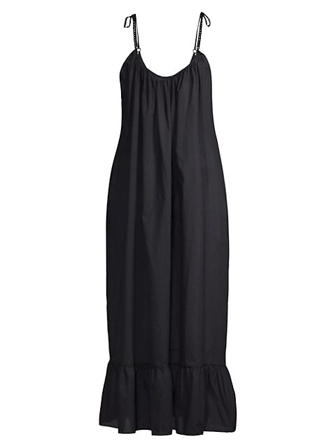 Flounce Hem Maxi Dress
