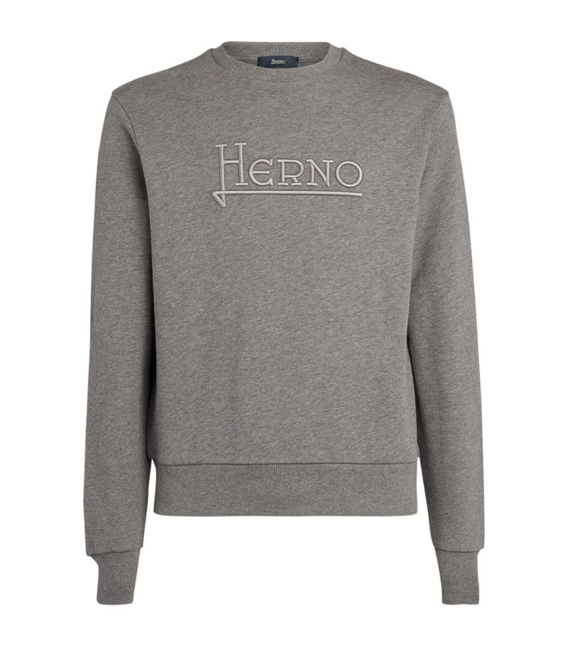 Herno Embroidered Logo Sweater