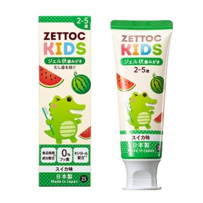 日本 Zettoc 小鱷魚 幼兒凝膠牙膏-2~5歲(西瓜)70g