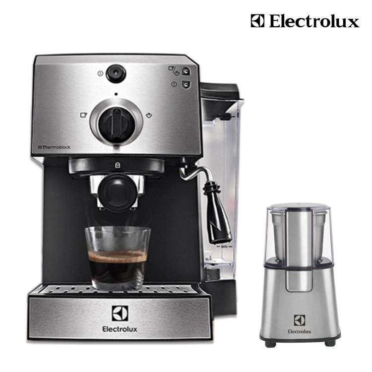 送原廠磨豆機ECG3003S【Electrolux伊萊克斯】15 Bar半自動義式咖啡機 E9EC1-100S
