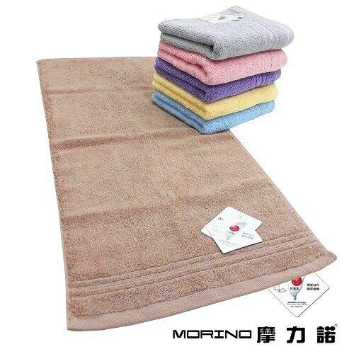 MORINO 飯店級素色緞條毛巾(粉 34X76cm) [大買家]