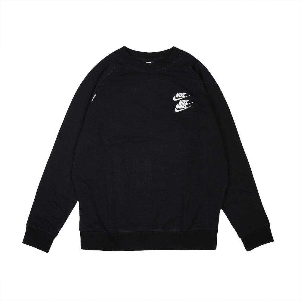 NIKE T恤 NSW Sports Shirts 男款 運動休閒 世界 三勾  圓領 棉質 穿搭 黑 白 [DD0883-010]