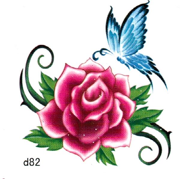 薇嘉雅  花     超炫圖案紋身貼紙 d82