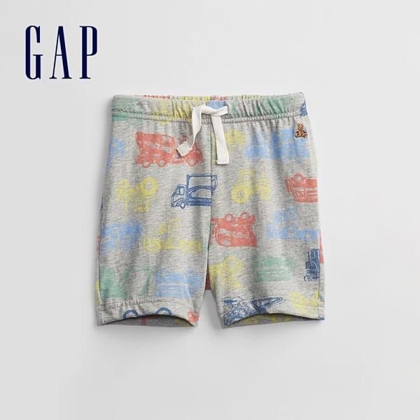 Gap男幼童 布萊納系列 童趣印花運動休閒褲 813638-灰色