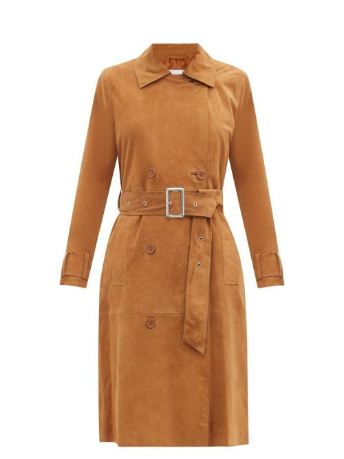 Stand Studio - Gemma Suede Trench Coat - Womens - Tan