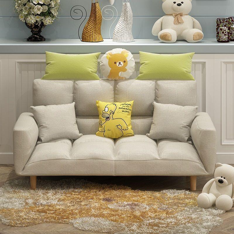 懶人沙發小戶型沙發床單雙人網紅款簡易折疊榻榻米臥室陽臺小沙發