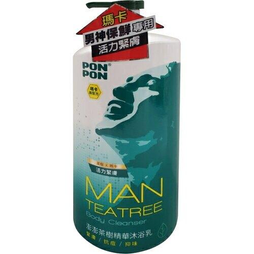 澎澎 茶樹精油淨化沐浴乳(1200g/瓶) [大買家]