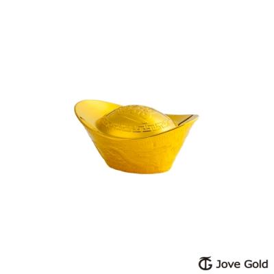Jove Gold 漾金飾 壹0.5台錢加大版黃金元寶x1-招財進寶