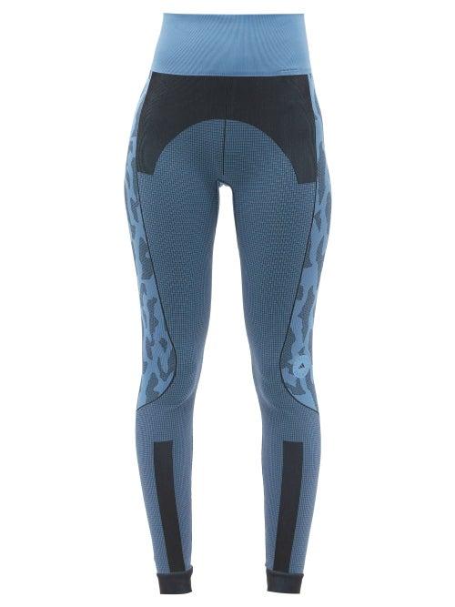 Adidas By Stella Mccartney - Truepurpose Seamless Recycled Fibre-blend Leggings - Womens - Blue
