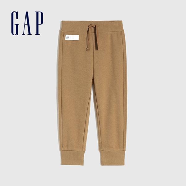 Gap男幼童 基本款鬆緊休閒休閒褲 866610-淺咖色