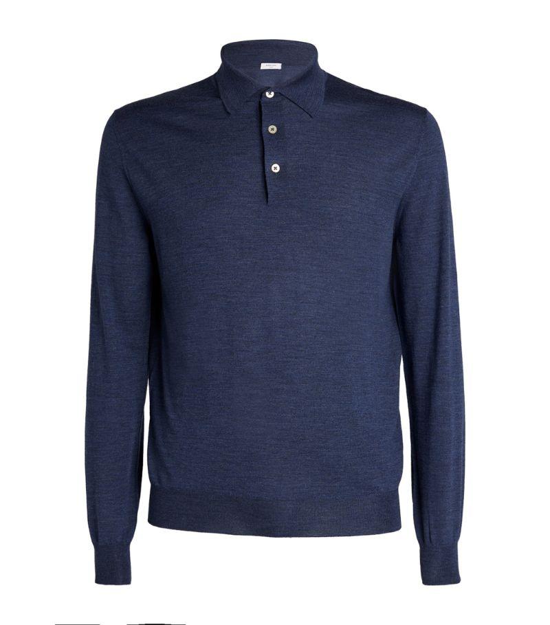 Boglioli Virgin Wool Polo Sweater
