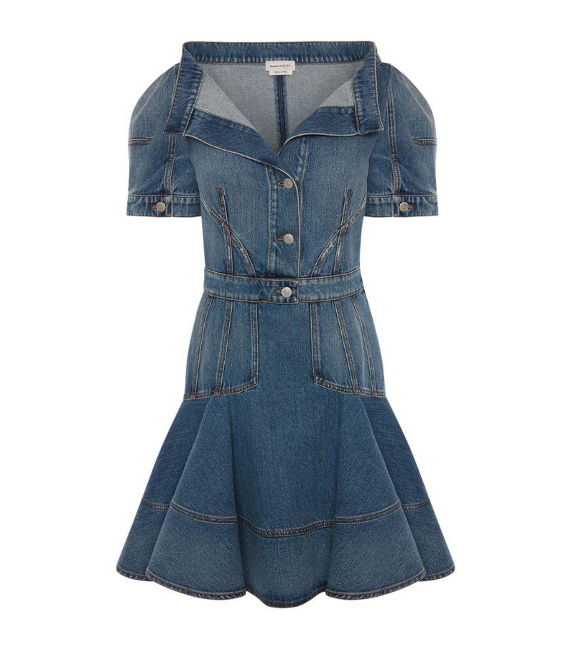 Alexander Mcqueen Denim Mini Dress