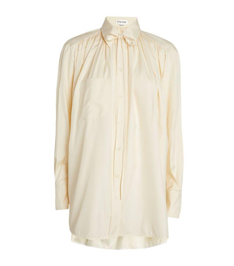 Victoria Beckham Silk Tie-Detail Blouse