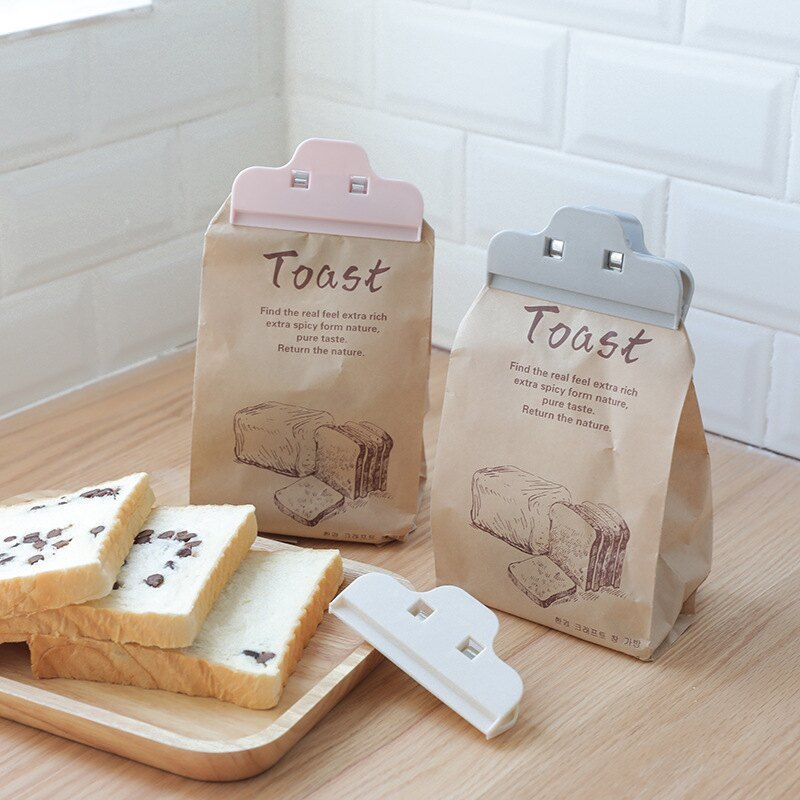 封口夾塑料保鮮袋茶葉食品袋奶粉零食夾子家用神器密封夾器廚房