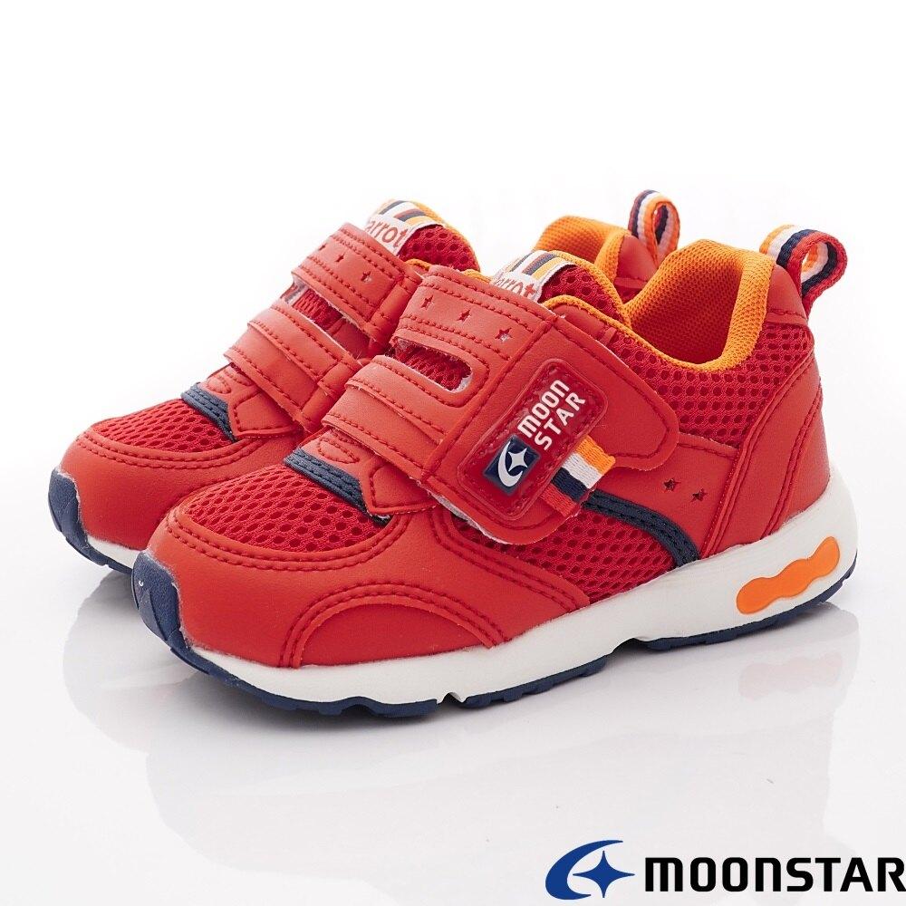 日本月星Moonstar機能童鞋Carrot四大機能系列3E寬楦速乾鞋款214652紅/214654粉紫(中小童段/中大童段)