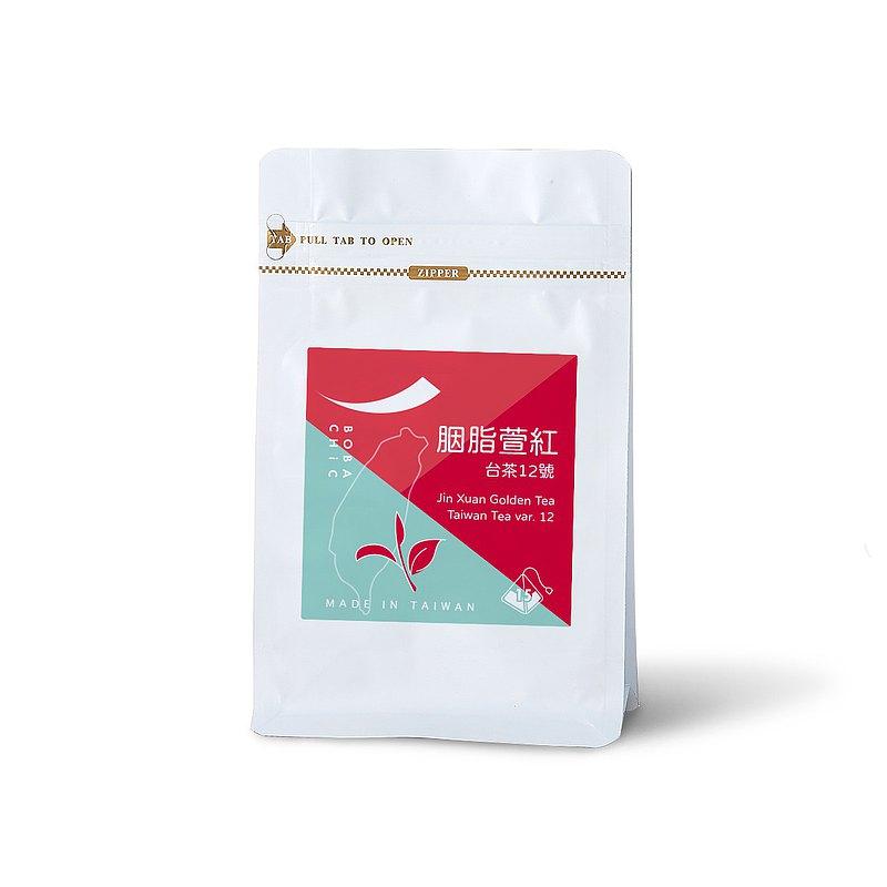 胭脂萱紅 - 台茶12號 | 原葉立體茶包 3g x 15入