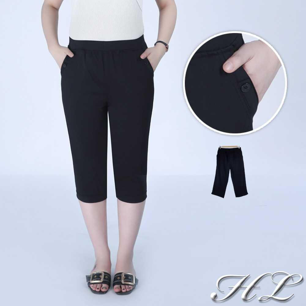 HL超大尺碼【20050011】百搭加分修型七分褲 1色