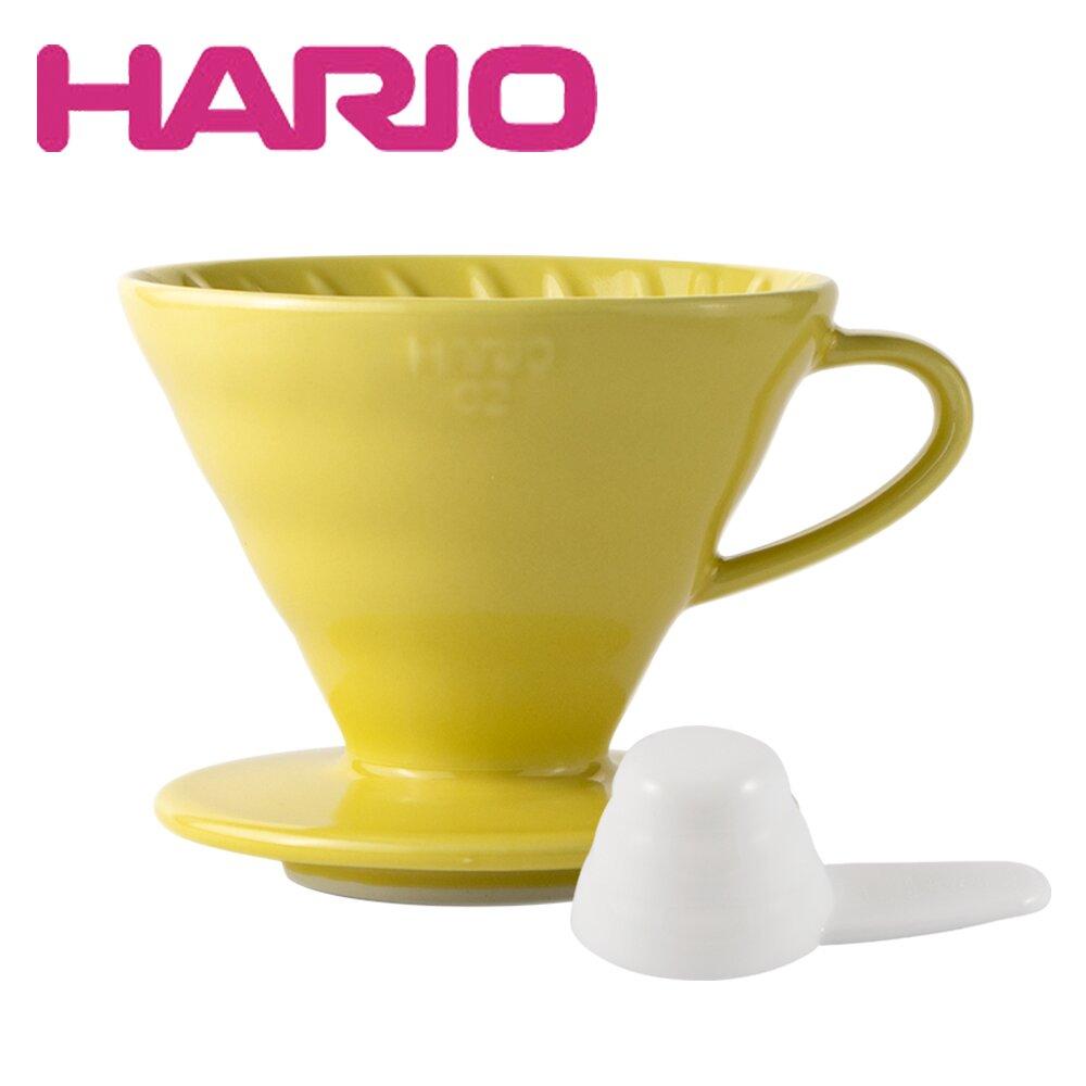 【HARIO】V60 1~4人份 02彩虹磁石濾杯(檸檬黃)