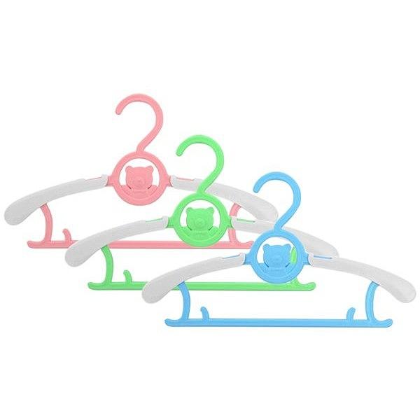 多功能加厚可伸縮款寶寶衣架(5入) 【小三美日】顏色隨機出貨