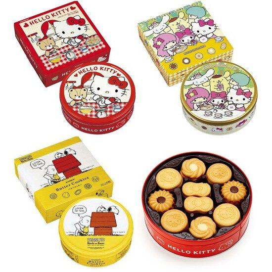 【江戶物語】北日本 KITTY 奶油風味/可可風味 三麗鷗人物 史努比 綜合餅乾禮盒 附提袋 日本進口Bourbon