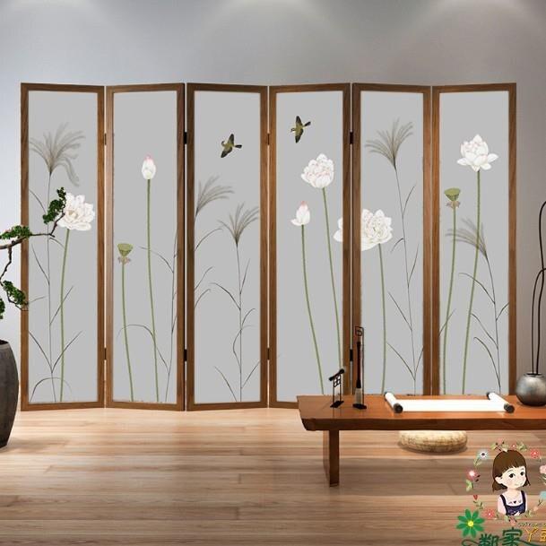中式屏風 折疊實木 臥室遮擋家用1愛尚優品