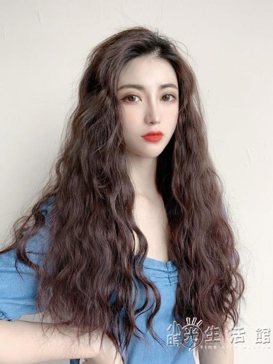 假髮女U型長卷髮 網紅泡面羊毛卷半頭套 大波浪長髮自然無痕全頭 果果輕時尚
