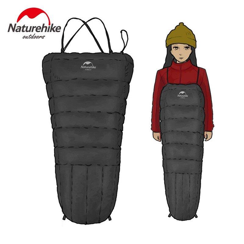 背帶式羽絨睡袋便攜冬鴨絨旅行露營單成人戶外睡袋1愛尚優品