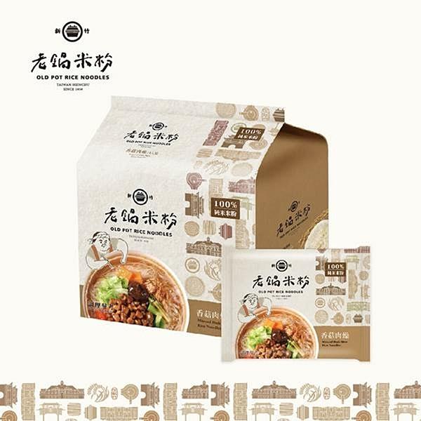 【南紡購物中心】老鍋米粉.純米香菇肉燥風味湯米粉家庭包(4包/袋,共2袋)